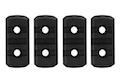 GK Tactical M-LOK Nylon 3 Picatinny Rail Sections (4pcs / Set) - Black