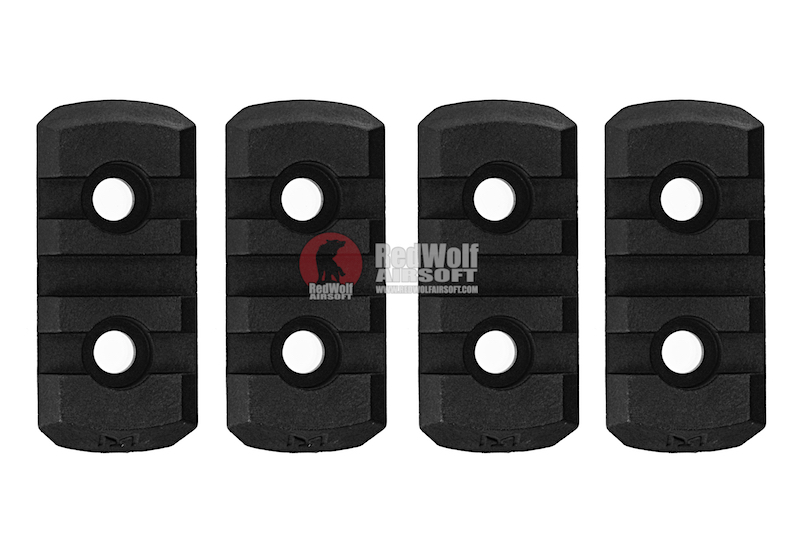 GK Tactical M-LOK Nylon 3 Picatinny Rail Sections (4pcs / Set) - Black<font color=yellow> (5G Sale)</font>