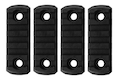 GK Tactical M-LOK Nylon 5 Picatinny Rail Sections (4pcs / Set) - Black