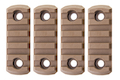 GK Tactical M-LOK Nylon 5 Picatinny Rail Sections (4pcs / Set) - Coyote Brown