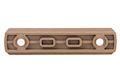 GK Tactical M-LOK Nylon 7 Picatinny Rail Sections (4pcs / Set) - Coyote Brown