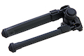 GK Tactical MG Style Adjustable Polymer Bipod for 1913 Picatinny Rail - BK