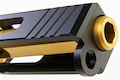 Guns Modify SA T1 Aluminum Slide with Gold Titanium Nitride Stainless Steel Barrel Set for Tokyo Marui G19 GBB