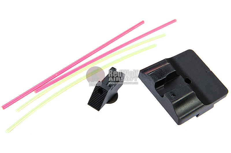 Guns Modify W Style Steel CNC Fiber Optic Sight Set for Tokyo Marui / Guns Modify/ WE Glock GBB Series