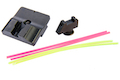 Guns Modify W Style Steel CNC Fiber Optic Sight Set for Umarex (VFC) Glock GBB Series