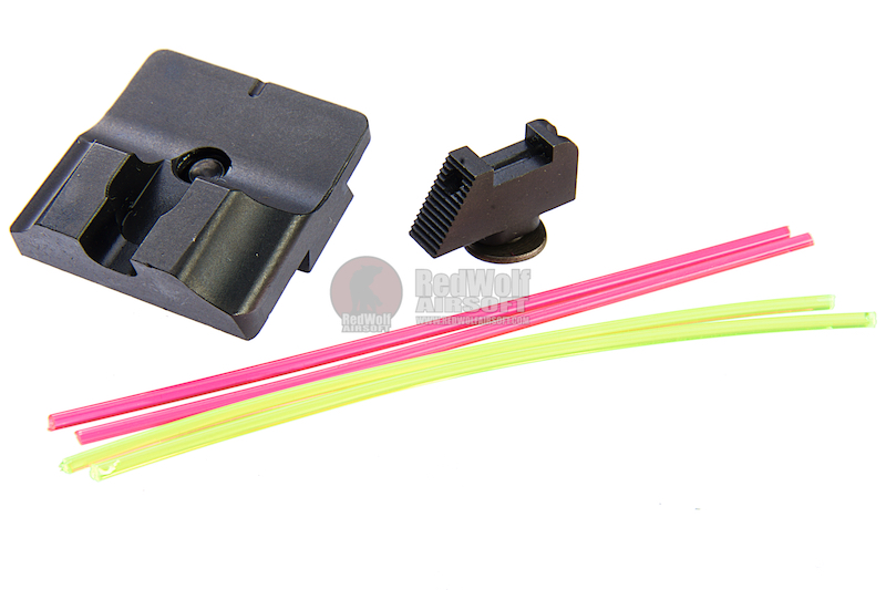 Guns Modify W Style Steel CNC Fiber Optic Sight Set for Umarex (VFC) Glock GBB Series<font color=yellow> (5G Sale)</font>
