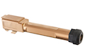 Guns Modify CNC SA Stainless Steel Threaded Barrel w/ Inner Barrel (ID 6.03mm, Length 97mm) for Tokyo Marui G19 GBB - Nitride Rose Gold (97mm)