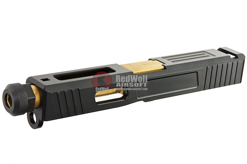 Guns Modify CNC SA T1 Aluminum Slide Set for Tokyo Marui G19 GBB - Gold Outer Barrel<font color=yellow> (5G Sale)</font>