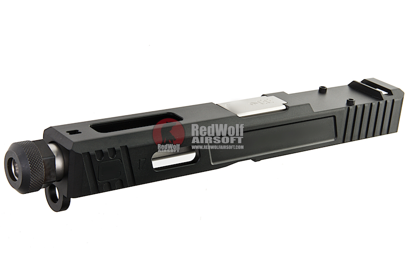 Guns Modify CNC SA Aluminum Slide Set for Tokyo Marui G17 GBB (RMR Cut) - Silver Outer Barrel