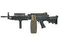 G&P MK46 Mod 0 (P.N.) AEG Machine Gun - DX (Black) - with Collapsible Buttstock (GP843 CNC Cut Stock)