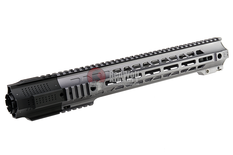 G&P Long Railed Handguard with SAI QD System for Tokyo Marui M4 / M16 AEG/ GBB Rifle  - Gray
