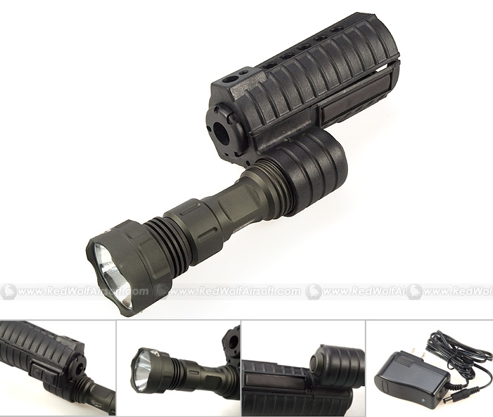 G&P M500 Handguard with Flashlight for M4/M16 series