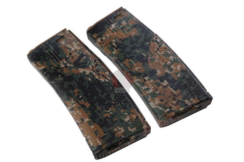 G&P x Socom Gear - Troy Licensed 340rds Hi-Cap Battle Magazine - Digital Woodland