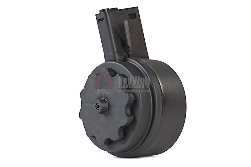 G&P 1500rds Attack Type Auto Winding Drum Magazine for Tokyo Marui M16 Series (Black)
