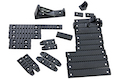 G&P M-lok / Keyomd Rail Cover Set - Black<font color=yellow> (5G Sale)</font>