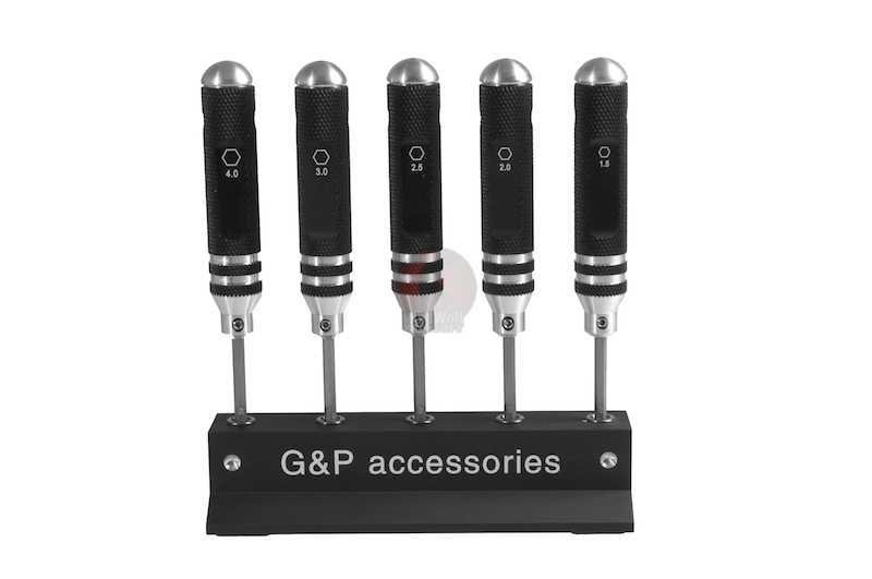 G&P Precision Screwdriver Set (HEX) (5 Pcs)
