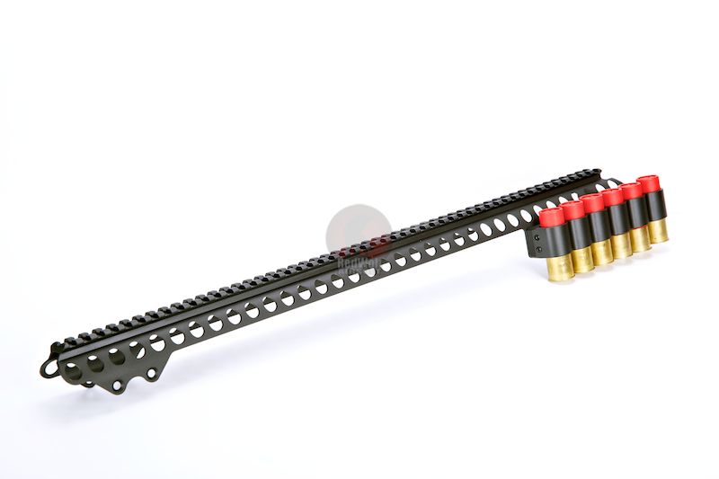 G&P Shotshell Receiver Rail Set for G&P M870 Metal Body (Long) - BK