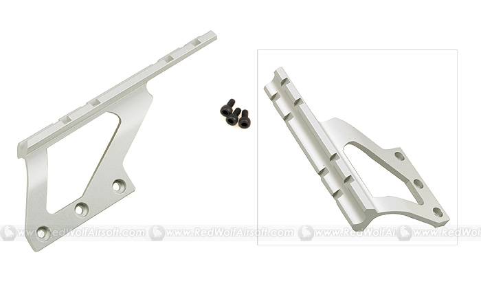 G&P Scope Mount Base (Long, Silver) for Marui Hi Capa