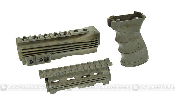 G&P Handguard & Grip for Marui AK47 Series (OD)