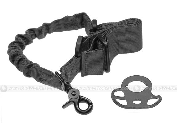 G&P CQB/R Sling Adaptor with Bunch Sling for M4 Series (Black)