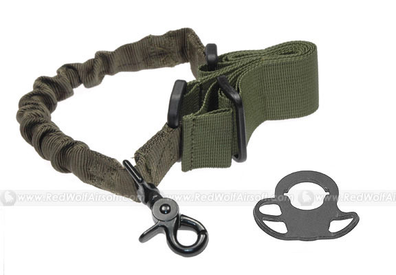 G&P CQB / R Sling Adaptor with Bunch Sling (OD) for Extended Battery Buttstock & M4 Series