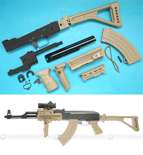 G&P AK47 Kit with Folding Stock (Sand)
