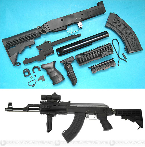 G&P AK47 Kit with M4 Stock (BK)