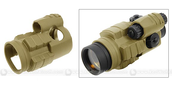G&P Military Type 30mm Red Dot Sight Cover (Sand)