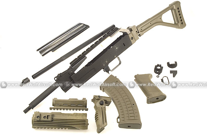 G&P AK Tactical Conversion Kit (Folding Stock)(NVG Version)(OD) for Marui AK