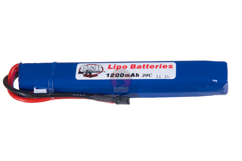 G&P 11.1v 1200mAh (20C) Li-Poly / LiPo Rechargeable Battery (Small Deans / T Connector)