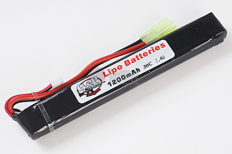 G&P 7.4v 1200mAh (20C) Lithium Polymer LiPo Rechargeable Battery (A - Tamiya)