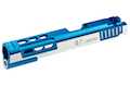Gunsmith Bros CNC Aluminum STI DVC STD Single Slide for Tokyo Marui Hi-Capa GBB Series - Blue 2 Tone