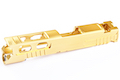Gunsmith Bros CNC Aluminum Ultra Cut 4.3 Standard Single Slide with Sights for Tokyo Marui Hi Capa 4.3 GBB Pistol - Gold