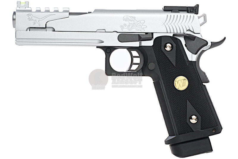 WE Hi Capa 5.1 Dragon Type B- Silver (Full Metal)