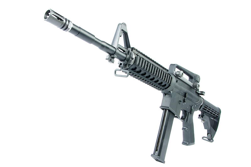 WE M4A1 RIS PCC Version GBB Rifle  - Black
