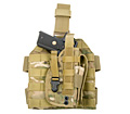 PANTAC Molle Style Leg Panel with Holster (Offcial Multicam / CORDURA)