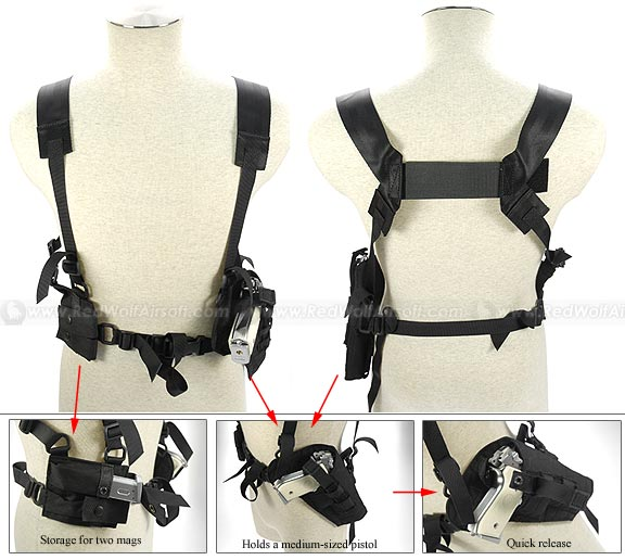 Pantac Tactical Type 1 Shoulder Holster (Black / CORDURA) <font color=red>(Clearance)</font>