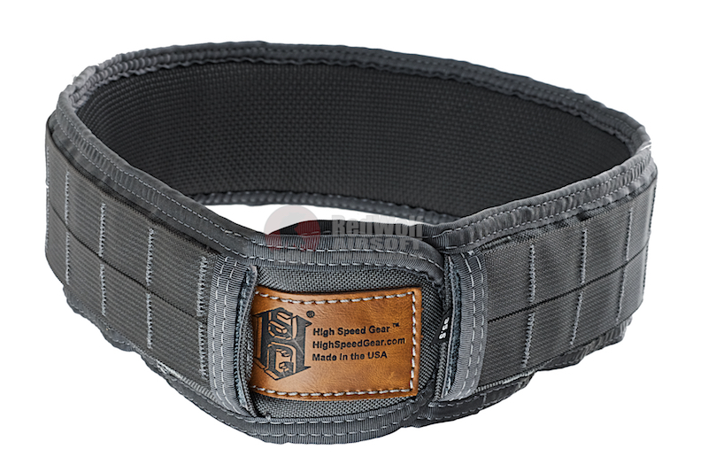 High Speed Gear Slim Sure Grip Padded Belt (M Size / Wolf Grey)