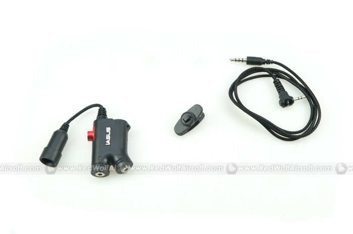 IASUS NT3 Headset Adaptor for Garmin/Cobra Single Pin Two Way Radios with Finger PTT
