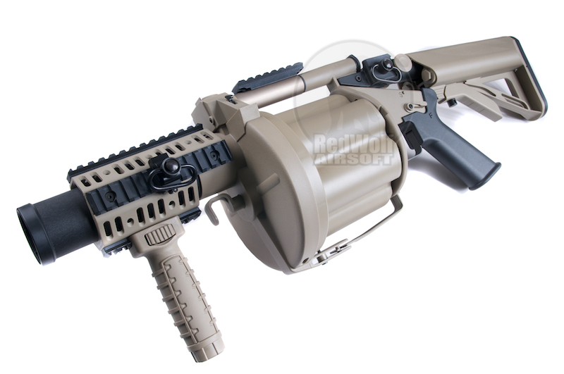 ICS MGL Grenade Launcher (Crane Stock / Tan)