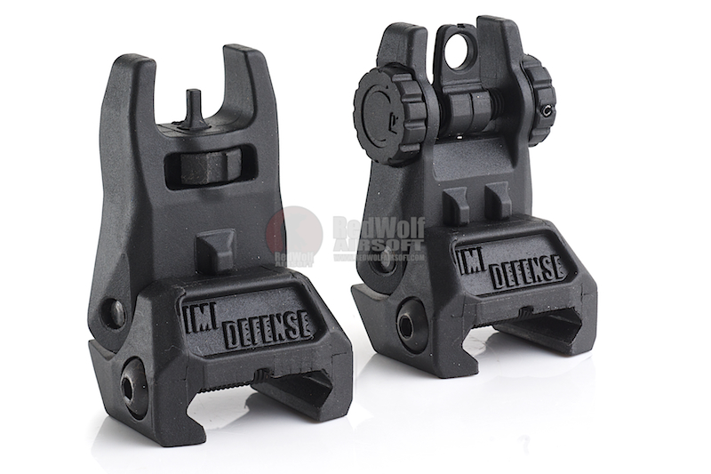 IMI Defense TFS / TRS Polymer Flip Up Sight Set - BK
