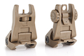 IMI Defense TFS / TRS Polymer Flip Up Sight Set - TAN