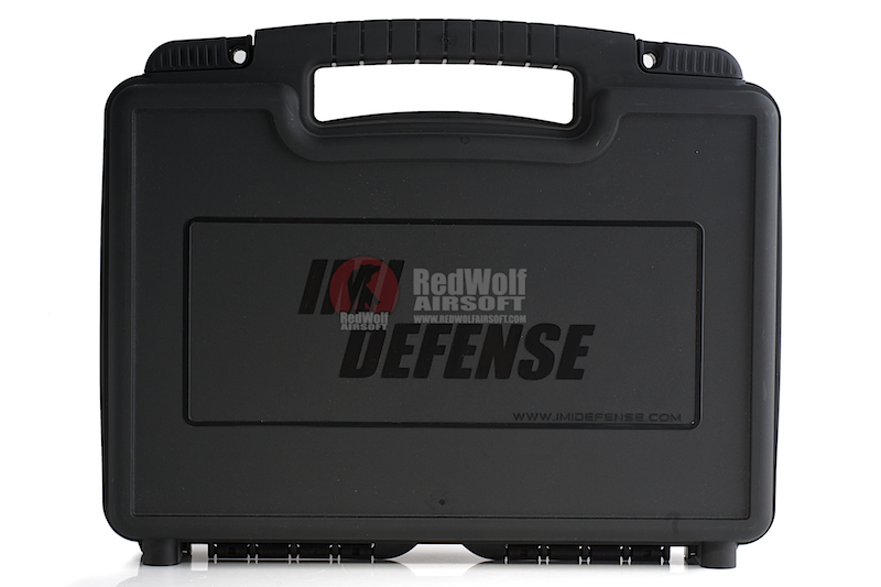 IMI Defense Plastic Pistol Case Large Size w/ Plastic Holster LVL1/LVL2, Magazine pouch & Safety Flag