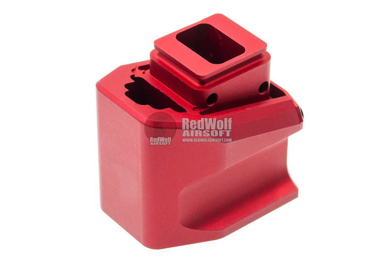 JDG Floyds Licensed Magazine Extension Pad for Tokyo Marui M&P9 / M&P9L GBB - Red