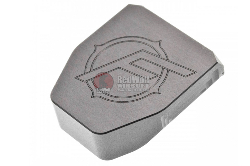 JDG Floyds Licensed Magazine Base Plate for Tokyo Marui M&P9 / M&P9L GBB(Real Type Style) Ti-Grey