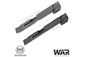 JDG WAR Afterburner M&P 1.0 Slide Set for Tokyo Marui M&P9 GBB(Licensed by WAR)(Ti- Grey w/Gold Barrel)