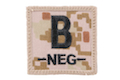 King Arms Cube Blood Type Patch - MD- B- <font color=yellow>(Clearance)</font>
