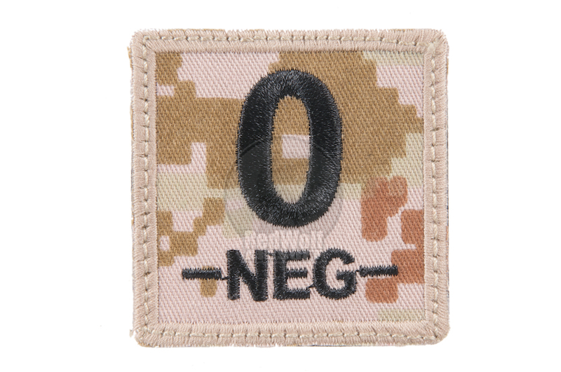King Arms Cube Blood Type Patch - MD- O-