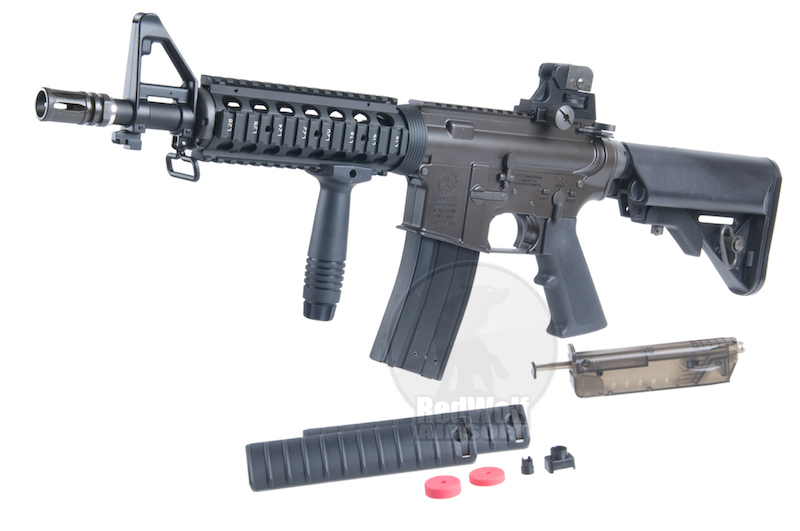 King Arms Colt M4 CQB-R Gas Blowback <font color=red> Clearance </font>
