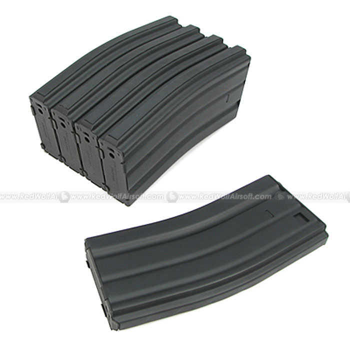 King Arms 68rds Mag for Marui M16 Box Set 5pcs(Metal, BK)
